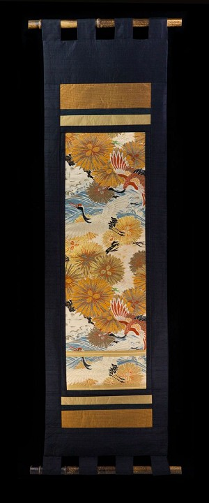 ROYAL CRANE and GOLDEN PINE WALL SCROLL