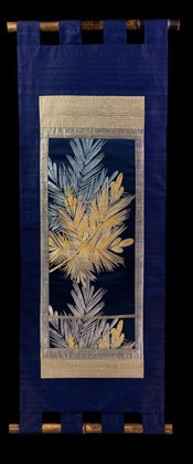 SILVER and GOLD PINE BRANCHES WALL SCROLL