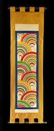 BRIGHTLY COLORED WAVES WALL SCROLL