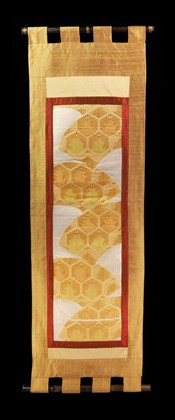 FANS woven with PINE in ROYAL HEXAGON WALL SCROLL