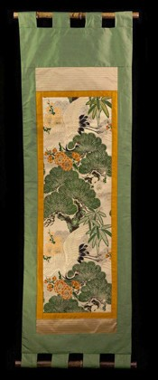 ROYAL CARNES and PINE TREE WALL SCROLL